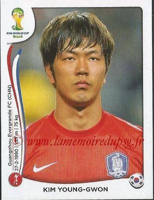 2014 - Panini FIFA World Cup Brazil Stickers - N° 626 - Kim YOUNG-GWON (Corée du Sud)