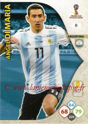 2018 - Panini FIFA World Cup Russia Adrenalyn XL - N° 008 - Angel DI MARIA (Argentine)