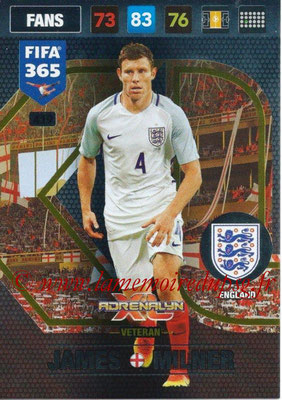 2016-17 - Panini Adrenalyn XL FIFA 365 - N° 419 - James MILNER (Angleterre) (Veteran)