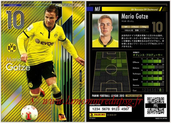 Panini Football League 2013 - PFL03 - N° 132 - Mario Gotze (Borussia Dortmund) (Super MF)