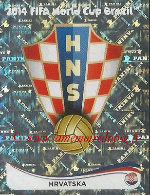 2014 - Panini FIFA World Cup Brazil Stickers - N° 051 - Ecusson Croatiel
