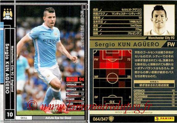 2015-16 - Panini WCCF - N° 064 - Sergio KUN AGUERO (Manchester City FC)