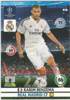2014-15 - Adrenalyn XL champions League N° 213 - Karim BENZEMA (Real Madrid CF)