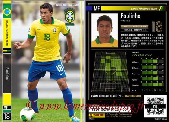 Panini Football League 2014 - PFL07 - N° 121 - PAULINHO (Bresil)