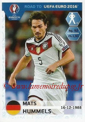 Panini Road to Euro 2016 Stickers - N° 050 - Mats HUMMELS (Allemagne)