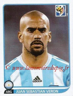 2010 - Panini FIFA World Cup South Africa Stickers - N° 118 - Juan Sebastian VERON (Argentine)
