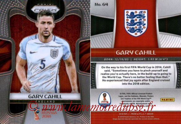 2018 - Panini Prizm FIFA World Cup Russia - N° 064 - Gary CAHILL (Angleterre)