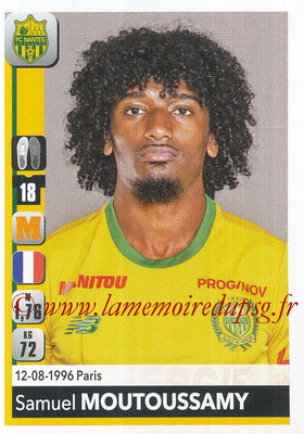 2018-19 - Panini Ligue 1 Stickers - N° 290 - Samuel MOUTOUSSAMY (Nantes)