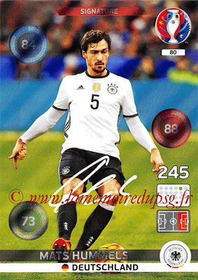 Panini Euro 2016 Cards - N° 080 - Mats HUMMELS (Allemagne) (Signature)