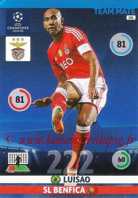 2014-15 - Adrenalyn XL champions League N° 101 - LUISAO (SL Benfica)