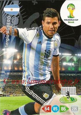 2014 - Panini FIFA World Cup Brazil Adrenalyn XL - N° 015 - Sergio AGUERO (Argentine)