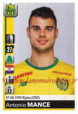 2018-19 - Panini Ligue 1 Stickers - N° T28 - Antonio MANCE (Nantes) (Transfert)