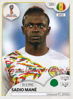 2018 - Panini FIFA World Cup Russia Stickers - N° 625 - Sadio MANE (Senegal)
