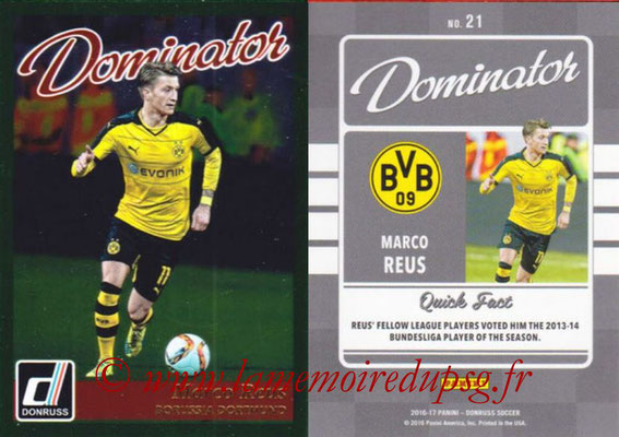 2016 - Panini Donruss Cards - N° D21 - Marco REUS (Borussia Dortmund) (Dominator)
