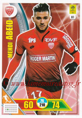 2017-18 - Panini Adrenalyn XL Ligue 1 - N° 081 - Mehdi ABEID (Dijon)