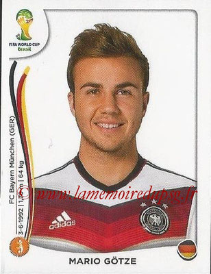 2014 - Panini FIFA World Cup Brazil Stickers - N° 500 - Mario GOTZE (Allemagne)