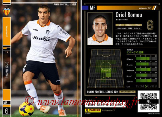 Panini Football League 2014 - PFL08 - N° 051 - Oriol ROMEU (FC Valence)