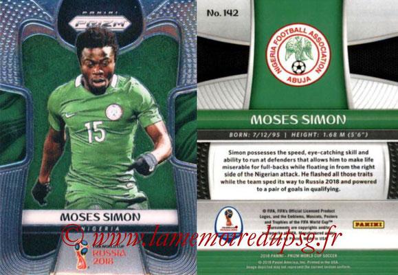 2018 - Panini Prizm FIFA World Cup Russia - N° 142 - Moses SIMON (Nigeria)