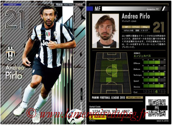 Panini Football League 2013 - PFL01 - N° 185 - Andrea Pirlo ( Juventus FC ) (Super MF)