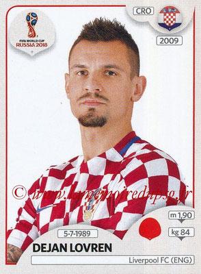 2018 - Panini FIFA World Cup Russia Stickers - N° 317 - Dejan LOVREN (Croatie)