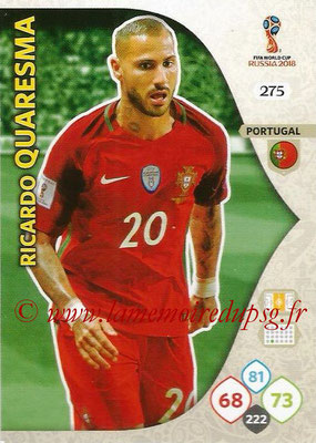 2018 - Panini FIFA World Cup Russia Adrenalyn XL - N° 275 - Ricardo QUARESMA (Portugal)