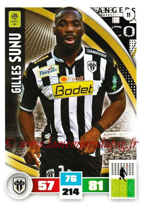 2016-17 - Panini Adrenalyn XL Ligue 1 - N° 011 - Gilles SUNU (Angers)