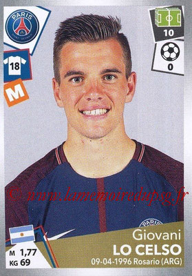 2017-18 - Panini Ligue 1 Stickers - N° 375 - Giovani LO CELSO (Paris Saint-Germain)