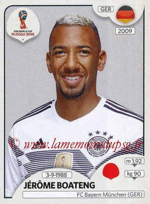 2018 - Panini FIFA World Cup Russia Stickers - N° 437 - Jérôme BOATENG (Allemagne)