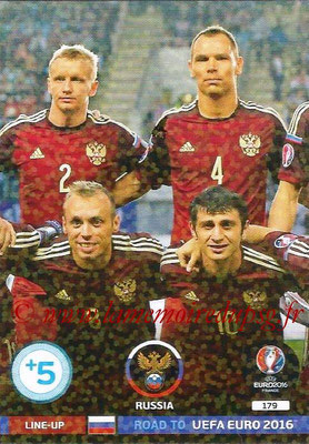 Panini Road to Euro 2016 Cards - N° 179 - Equipe Russie 2