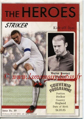 2013 - Futera World Football Unique - N° HER30 - Wayne ROONEY (Angleterre) (Striker) (The Heroes)