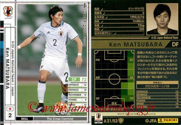 2015-16 - Panini WCCF - N° A31 - Ken MATSUBARA (Japon)