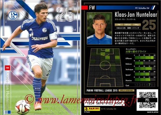 Panini Football League 2015 - PFL11 - N° 075 - Klaas-Jan HUNTELAAR (FC Schalke 04) (Star)