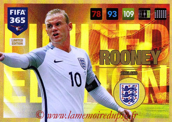 2016-17 - Panini Adrenalyn XL FIFA 365 - N° LE53 - Wayne ROONEY (Angleterre) (Limited Edition)