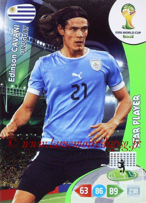 2014 - Panini FIFA World Cup Brazil Adrenalyn XL - N° 313 - Edinson CAVANI (Uruguay) (Star player)