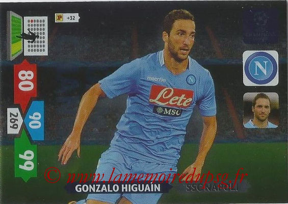 2013-14 - Adrenalyn XL champions League N° 347 - Gonzalo HIGUAIN (SSC Napoli) (Game Changer)