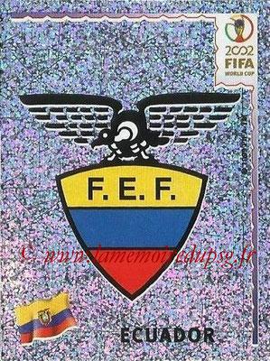 2002 - Panini FIFA World Cup Stickers - N° 511 - Logo Equateur
