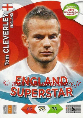 2014 - Panini Road to FIFA World Cup Brazil Adrenalyn XL - N° 066 - Tom CLEVERLEY (Angleterre)