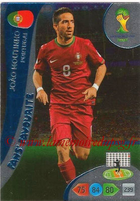 2014 - Panini FIFA World Cup Brazil Adrenalyn XL - N° 347 - Joao MOUTINHO (Portugal) (Fan's favorite)