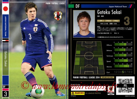 Panini Football League 2014 - PFL06 - N° 121 - Gotoku SAKAI (Japon)