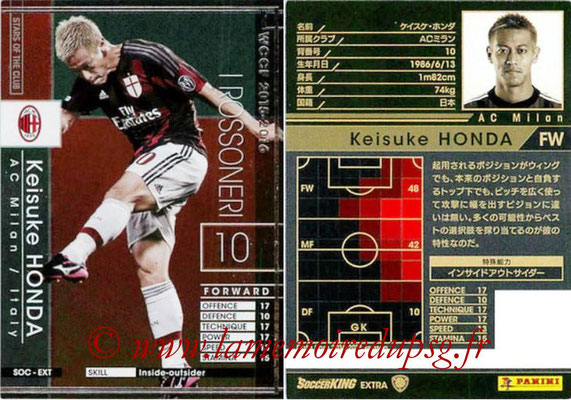 2015-16 - Panini WCCF - N° SOC-EXT2 - Keisuke HONDA (Milan AC) (Stars Of The Club) (Extra)
