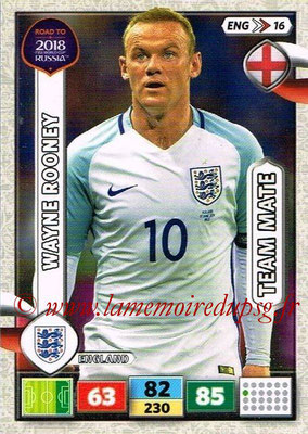 2018 - Panini Road to FIFA World Cup Russia Adrenalyn XL - N° ENG16 - Wayne ROONEY (Angleterre)