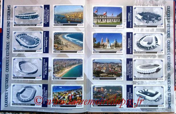 Panini Copa America Chile 2015 Stickers - Pages 02 et 03 - Villes et Stades