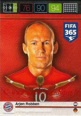 2015-16 - Panini Adrenalyn XL FIFA 365 - N° 308 - Arjen ROBBEN (FC Bayern Munich) (Icon)