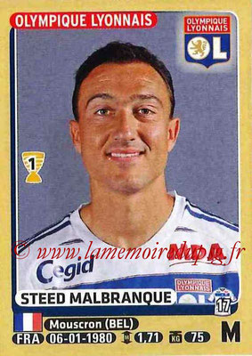 2015-16 - Panini Ligue 1 Stickers - N° 210 - Steed MALBRANQUE (Olympique Lyonnais)