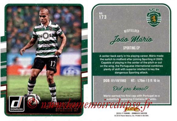 2016 - Panini Donruss Cards - N° 173 - Joao MARIO (Sporting CP)
