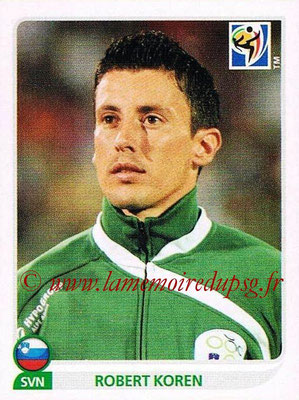 2010 - Panini FIFA World Cup South Africa Stickers - N° 248 - Robert KOREN (Slovenie)