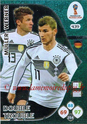 2018 - Panini FIFA World Cup Russia Adrenalyn XL - N° 439 - Thomas MÛLLER + Timo WERNER (Allemagne) (Double Trouble)