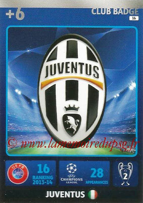 2014-15 - Adrenalyn XL champions League N° 016 - Logo Juventus (Club Badge)