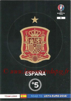 Panini Road to Euro 2016 Cards - N° 009 - Ecusson Espagne