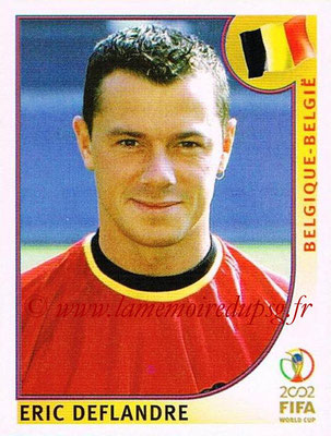 2002 - Panini FIFA World Cup Stickers - N° 552 - Eric DEFLANDRE (Belgique)